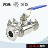 Vanne à bille à trois voies à essence en acier inoxydable (JN-BLV2004)