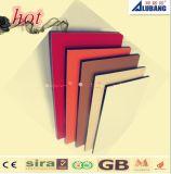 Alto color brillante de Alubang que hace publicidad del panel compuesto de aluminio de la tarjeta