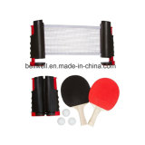 Ping Pong Net Set de tennis de table rétractable avec pagaies et boules