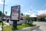 Alta calidad Mupi al aire libre que hace publicidad de la bandera del rectángulo ligero