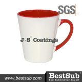 Сублимация покрытий Js Mugs внутренняя кружка цвета оправы 12oz (красное) B12tr