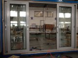 Porte coulissante en aluminium d'interruption thermique avec la maille