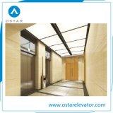 Roomless 450~1000kg Machine Ascenseur avec Golden titane la cabane de gravure