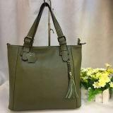 Mode de gros sacs fourre-tout les femmes sac à main en cuir véritable avec des glands Emg4824