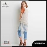 Womens Crochet longue veste chandail Cardigan