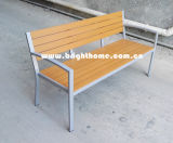 Outdoor Garden Double Chair Aluminium Plastique Bois