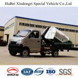 2cbm Changan 유로 4 휘발유 가솔린 훅 팔 상승 쓰레기 트럭
