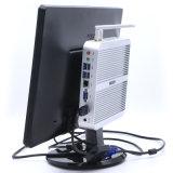 Размера Itx PC Fanless настольный ПК Intel Skylake I3-6100u миниого малого молчком