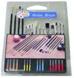 Brosse de peinture personnalisé défini avec la palette en plastique