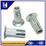 Noix en acier de rivet d'embrayage de moletage de couche de zinc d'OIN
