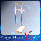 Шкаф промотирования шкафа выставки шкафа вешалки стойки индикации нержавеющей стали стеллажа для выставки товаров полки индикации (YZ161705)