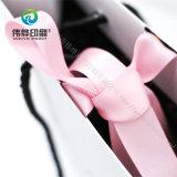 Saco de impressão de papel bonito com fita de seda Emboss Logo Aceptable
