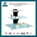 Mensola di visualizzazione di vetro dell'alimento del buffet per il ristorante