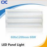 Iluminação de painel elevada da luz de teto do diodo emissor de luz de Quatily 60W 600X1200mm do Ce