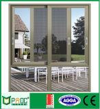 Personalizado de alta calidad doble vidrio de ventana corrediza de aluminio para viviendas