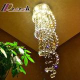 Het Hangen van de Lamp van het Kristal van de Luxe van de Zaal van de conferentie het Duidelijke Licht van het Plafond
