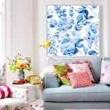 現代通りの壁の装飾の青い木のキャンバスプリント