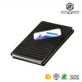 Sostenedor de la tarjeta de crédito de los productos de la alta calidad de la fibra mate lujosa del carbón para el sostenedor de la tarjeta de visita