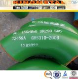 45/90/180 grados de aleación de acero, el codo para WP11/WP22
