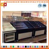 Unidades de madera del estante de visualización del vehículo y de la fruta del supermercado del metal (Zhv83)