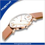 El reloj de la versión simple 2017 avanzó los relojes para el reloj del cuero genuino de los hombres