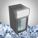 Capacetes Mini frigorífico com porta de vidro transparente para bebidas