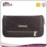 Бумажник PU длинних повелительниц OEM кожаный с женщинами бумажников муфты изменения Zippered портмонем