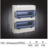 Boîtier de distribution étanches Carte de distribution de boîte de distribution en plastique IP55 Hc-Wd 24façons IP65