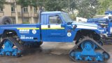 ハンマーおよびランドローバーのためのオフロード手段のゴム製クローラー歩くシステム