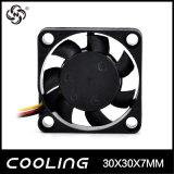 UL94V-0 precio de fábrica micro del ventilador del ventilador de la C.C. del plástico 30X30X07m m 3V 5V pequeño