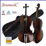Violoncelle bon marché d'instruments de musique des prix 4/4 de qualité