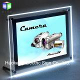 Soporte de mesa para firmar la caja de luz LED de titular de la publicidad de imagen