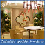 Schermo inossidabile del divisorio del fiore dorato di disegno moderno per il ristorante