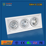 Aluminium 90lm / W 5W * 3 LED Grille Light pour Restaurant
