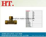 Brass 1/8pol conexão T de compressão