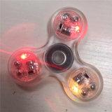 Transparent avec le fileur à trois boutons de personne remuante de lumières