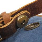 أحدث تصميم خمر حقيقي جلدي حقيبة قماش الرجل (RS-6807D)