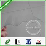 Le plastique polycarbonate ondulé 0,8mm Sabic les tuiles de couverture de feuilles de carton ondulé en polycarbonate