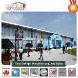 Grande tente pour l'exposition avec les murs en verre pour la denrée juste