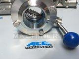 Válvula de borboleta sanitária rosqueada do aço inoxidável (ACE-DF-2V)