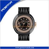 Qualitäts-Edelstahl-Geschäfts-Uhr-Multifunktionsquarz-Uhren