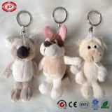 Jouet promotionnel de jouet de trousseau de clés de peluche de chien de traîneau et de loup de koala beau