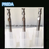 Aluminium Processing를 위한 HRC60 Polished 2 Flutes Mill Cutters