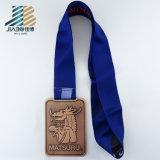 Китай производитель резки сплава бронзы США дзюдо медаль с лентой