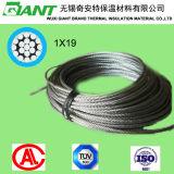1X19 utilisé sur le fil de la corde en acier galvanisé