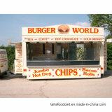 شارع طعام يبيع تيار نظرة متحرّك طعام مقطورة