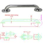 Barre de retenue de douche de sécurité handicapée, rail de serrage, rail à main