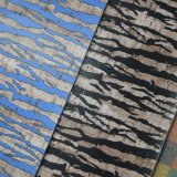 Couro artificial impresso malogrado do saco da esponja do PVC da textura azul de Brown