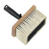 Cepillo de la pared de la fibra sintetizada con la carrocería de madera de la maneta plástica negra