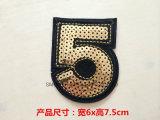 Corrección del bordado del cequi de la promoción de la manera para la divisa de los accesorios de la ropa DIY
